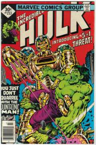 Incredible Hulk #213 FN Front Cover