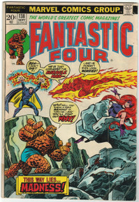 Fantastic Four #138 GD Front Cover