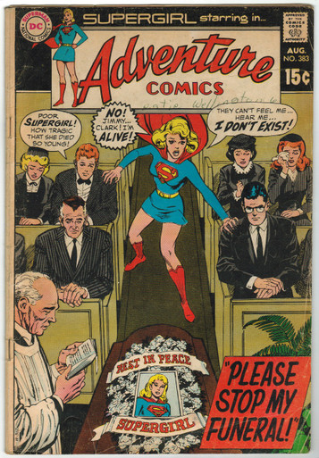 Adventure Comics #383 GD Front Cover