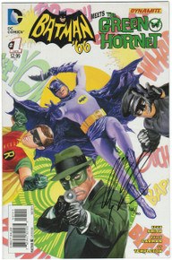 Batman '66 Meets Green Hornet #1 VF/NM Signed Front Cover