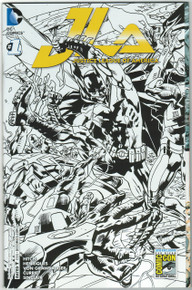 Justice League of America Vol. 4 #1 NM SDCC 15 B&W Gatefold Variant Front Cover