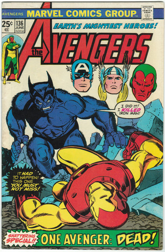 Avengers #136 FN Front Cover