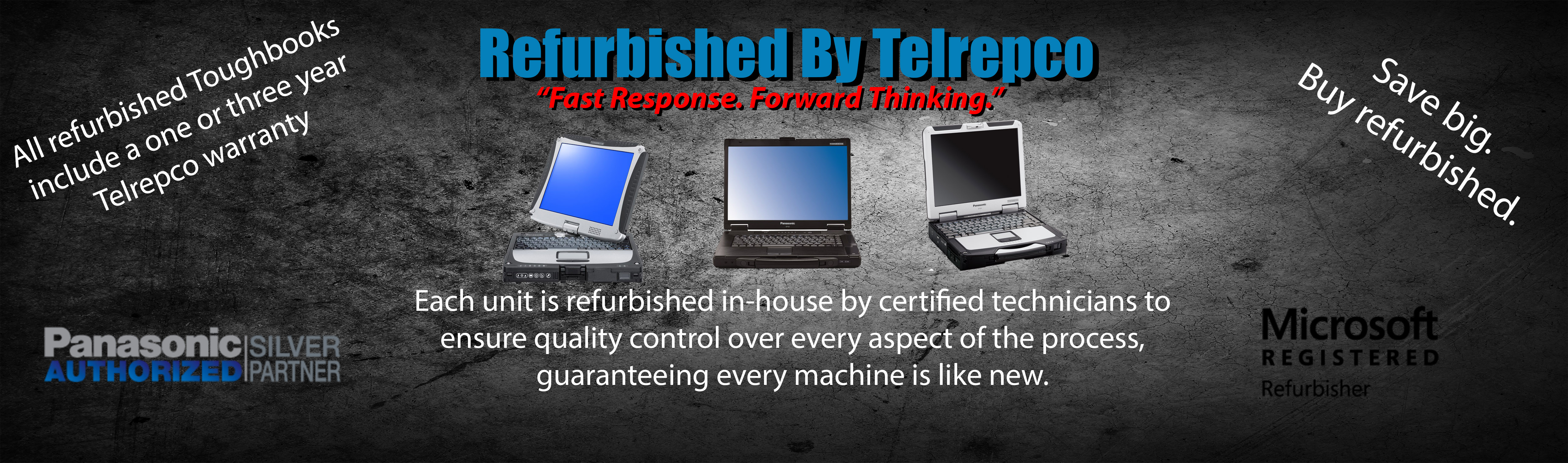 Each toughbook is refurbished in-house by certified technicians to ensure quality control over every aspect of the process, guaranteeing every machine is like new