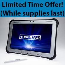 "Toughpad G1 Mk1 Intel Core i5-3437U 1.9GHz / 10.1"" Multi Touch + Digitizer / 128 GB SSD / 4GB RAM / Win 7 Pro"