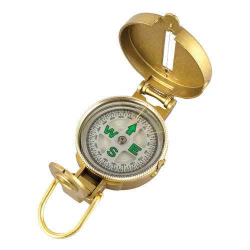 Metal Lensatic Compass - Open