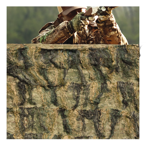 Ghillie Blind Camo Netting - Woodland