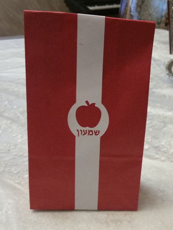 Goodie Bag with apple wrap