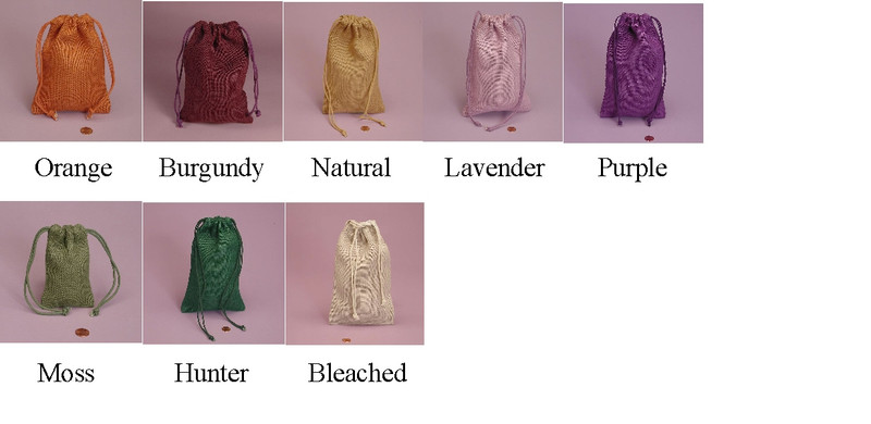 Colored Burlap Bags Available in 8 colors