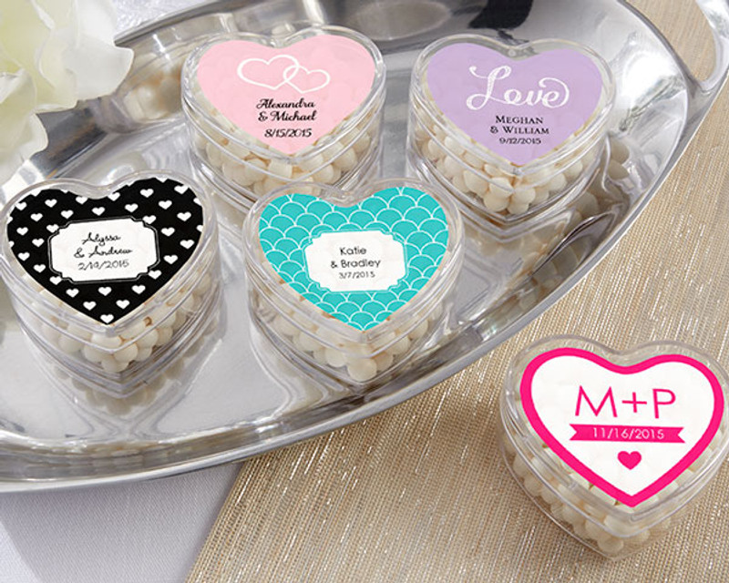 Heart Favor Container- Wedding (Set of 12)