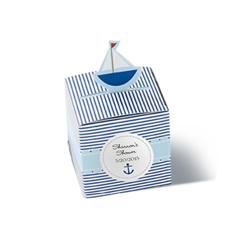 """Baby on Board!"" Pop-Up Sailboat Favor Box (Set of 24) (Available Personalized)"