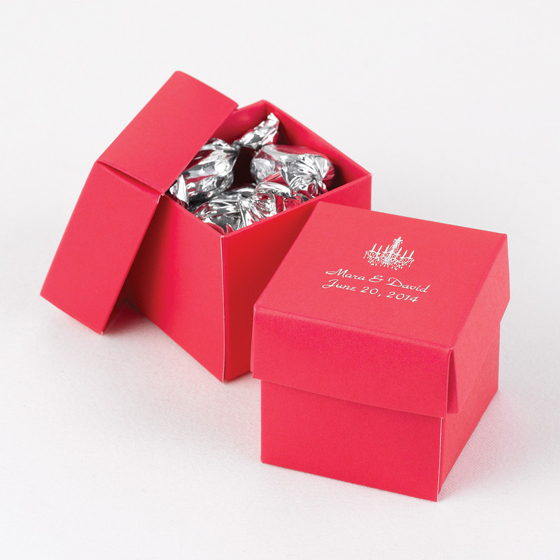 Fuschia 2 piece Favor Boxes (Set Of 25)