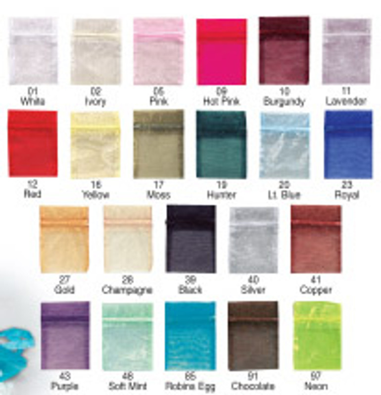 """Organza Favor Bag 5"""" x 7"""", Loads of Colors Available!"""