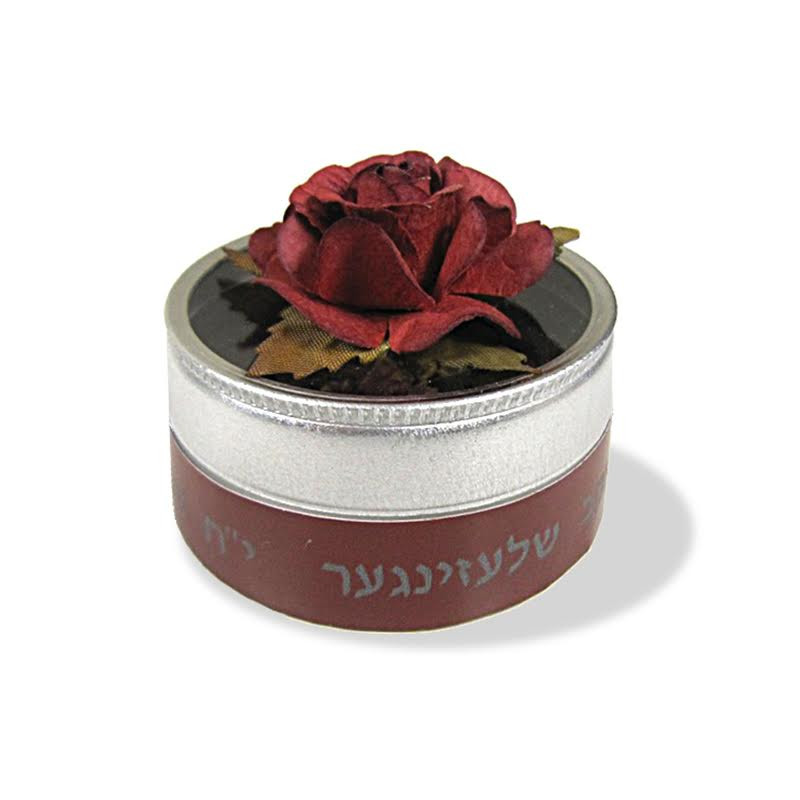 Personalized Flower Top besomim tin