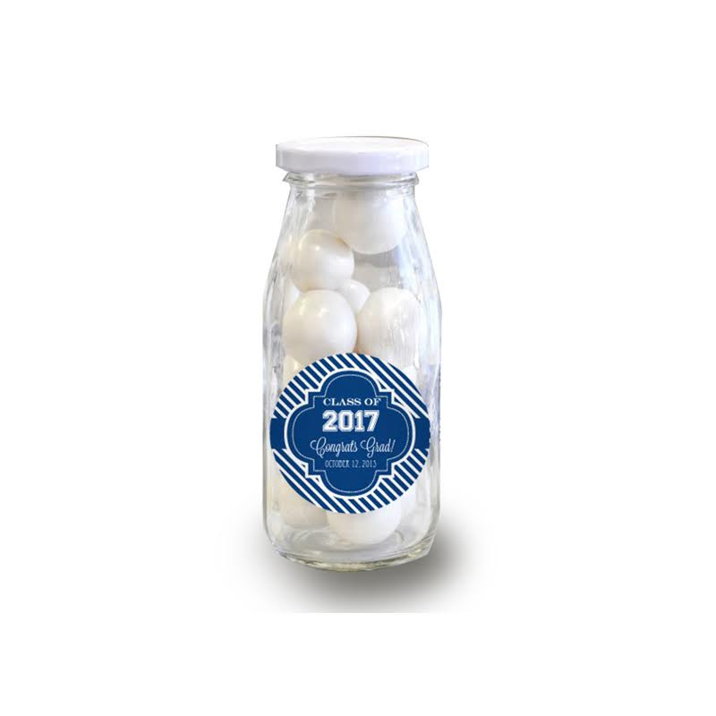 """Hats off to You"" Personalized Graduation Milk Bottles"