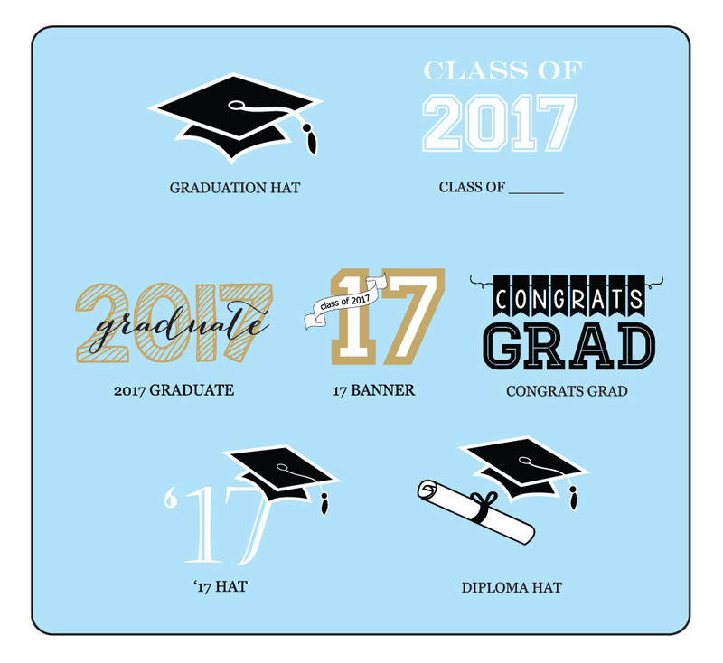 Personalized Graduation Flag Labels