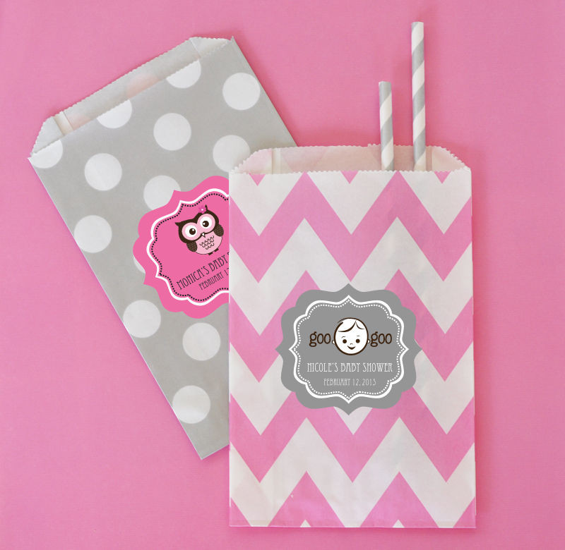 """Babies are Sweet"" Personalized Goodie Bags (set of 12)"