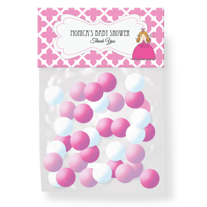 Princess Party Personalized Candy Bag Toppers