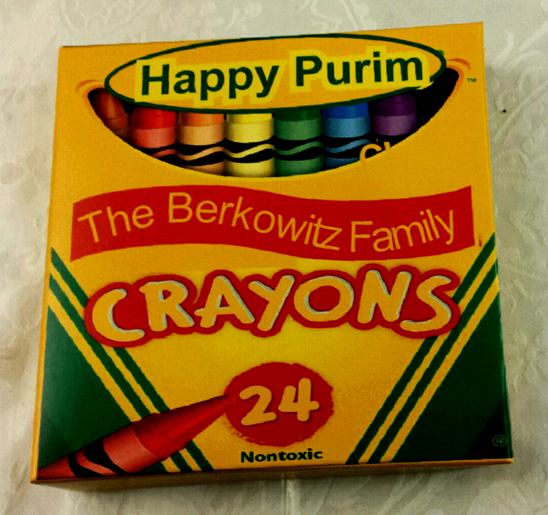Crayon Themed Mishloach Manos Box