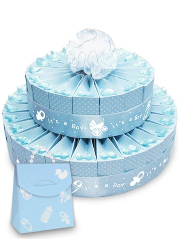 "Baby Shower  It's A Boy!  8"" x 12"" 2 Tier Favor Cake Kit"