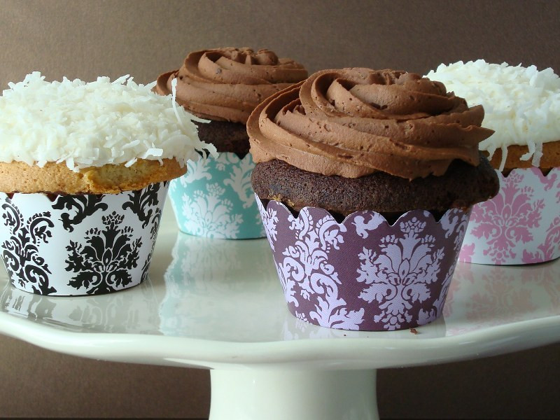 Patterned Cupcake Wraps
