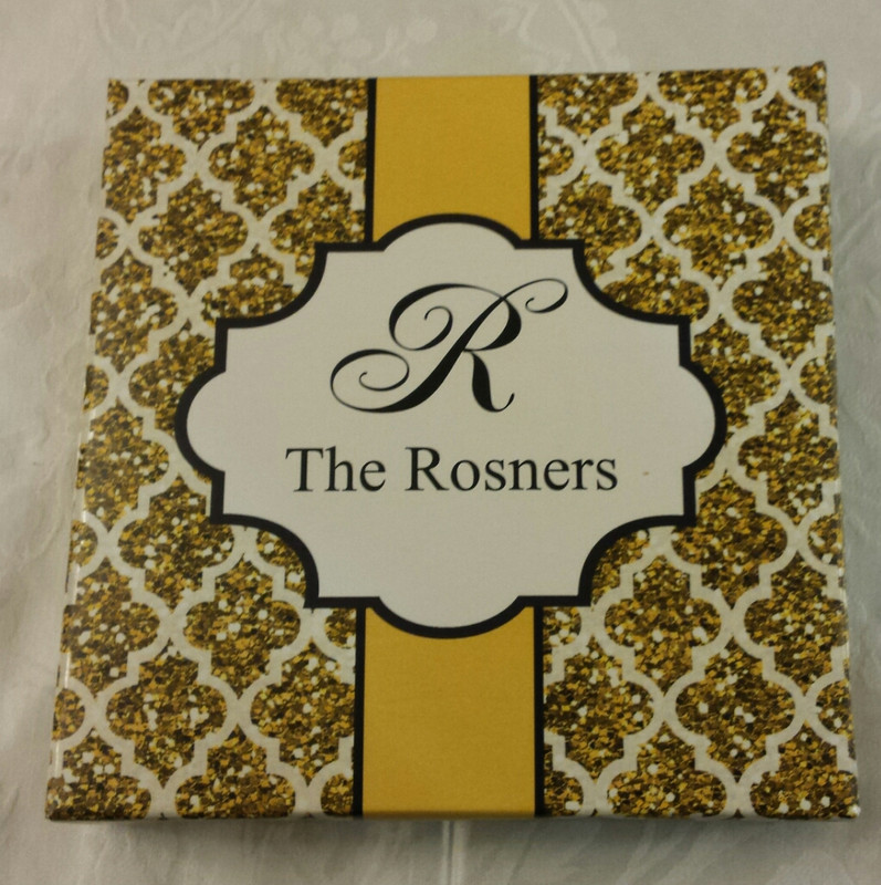 Gold Quatrefoil Glitter Box (4 sizes available)