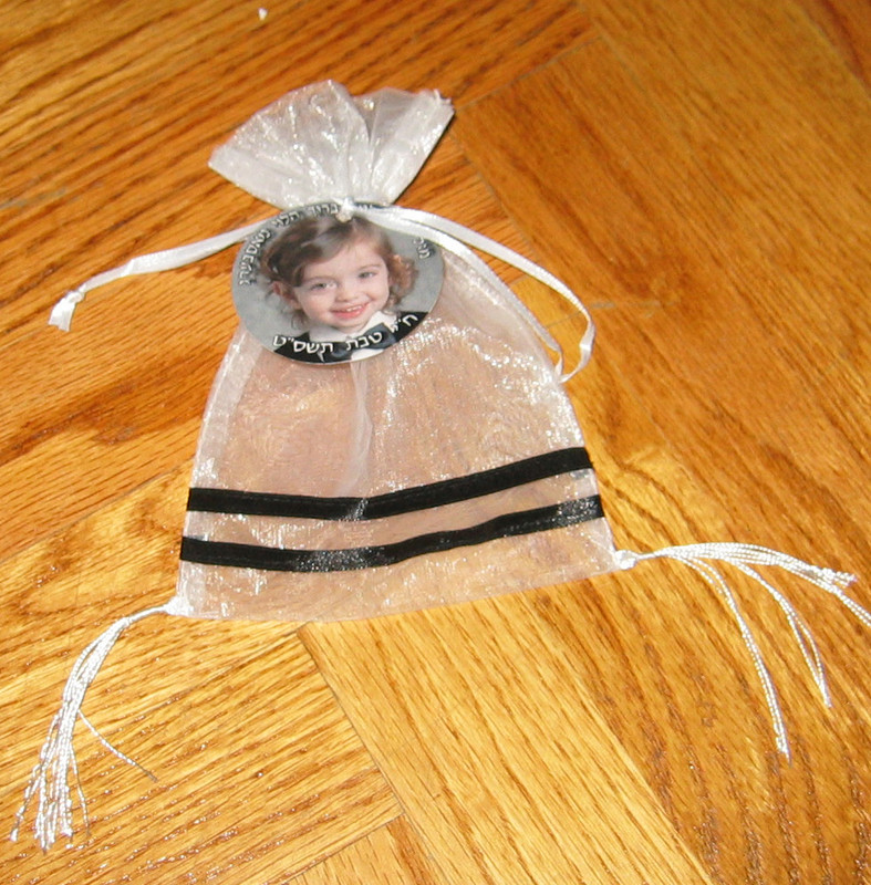 Organza Tzitzis Bag (Set of 12) w/Optional Personalized Tag