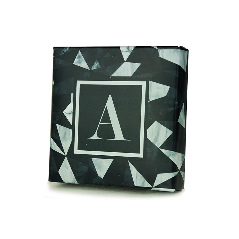 Geometric Triangle Black Design Monogrammed Purim Box 4 Sizes Available