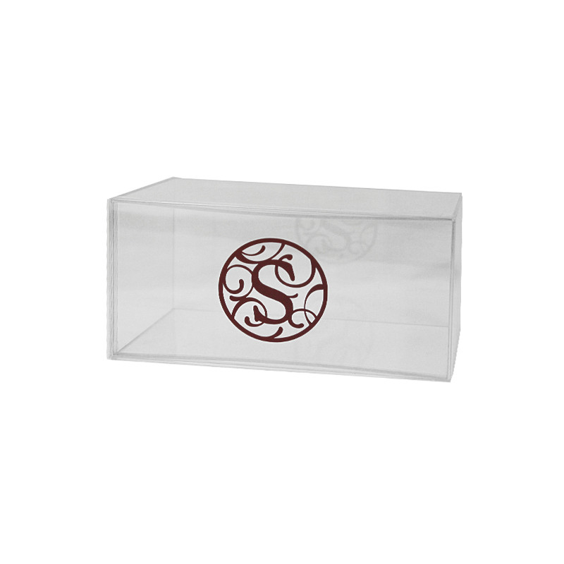 "Monogrammed 8"" x 4"" Lucite Box, Available in colors"