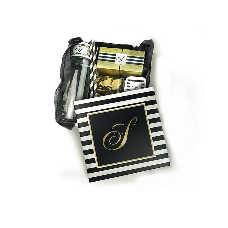 Black & White Stripe Welcome Package