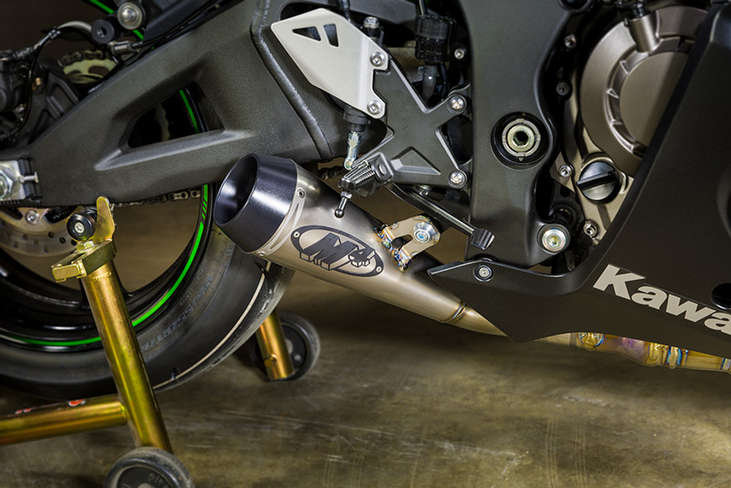 "2016-2017 KAW ZX10R Titanium ""GP"" Slip On (Removes Stock Catalytic Converter)"