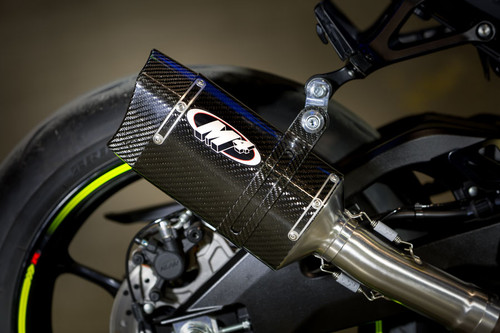 2017 GSXR1000 Slip On System With Stainless Steel Tubing