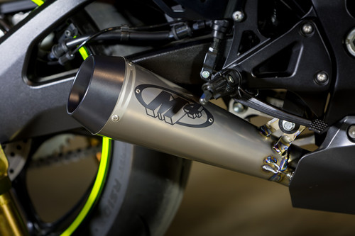2017 GSXR1000 GP Style Full System with Full Titanium Tubing and TITANIUM Muffler