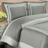 Hotel 100% Cotton Duvet Cover Set image Gray / Light Gray