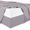Split Corner 100% Cotton Solid 300TC Bed Skirts - Lilac