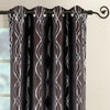 Chocolate Close Up image -Regalia Top Grommet Window Curtain Panels (Set of 2)