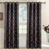 Chocolate-Regalia Top Grommet Window Curtain Panels (Set of 2)