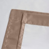Soho Triple-Pass Thermal Insulated Blackout Curtain Rod Pocket-Mocha-details