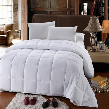 White Down Alternative Comforter All Season Medium Fill Weight Micro Duvet Insert