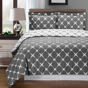Bloomingdale Cotton Duvet Cover Set image Gray