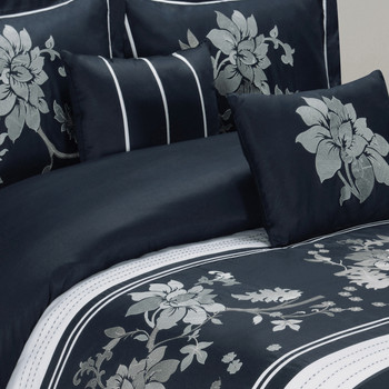 Myra Navy Duvet Cover Detailed Picture