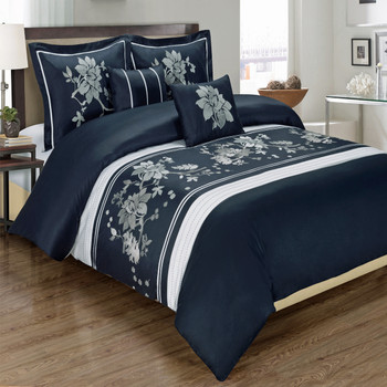 Myra Navy Duvet Cover/ Overview