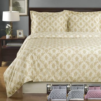 Sierra Silky Soft 100-Percent Cotton Reversible Duvet Cover Set