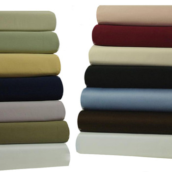 Attached Waterbed Sheets Solid 100-Percent Cotton 450 Thread Count