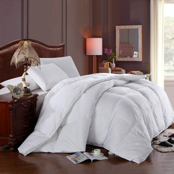 White-duck-Down-Comforter-Cotton-Solid-All-Seasons