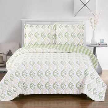 Gia floral Quilted Coverlet Oversized in Twin, Queen Or King Size