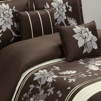 Myra Chocolate Duvet Cover/ Overview