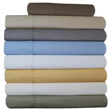 "Wrinkle-Free Split California King Adjustable 650tc Solid ""Cal-King"" Sheets"