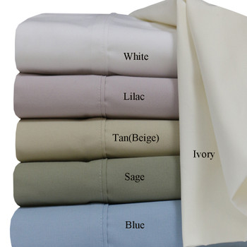 Extra Long Twin Bed Sheets Super Soft 100% Cotton Percale With Color Label