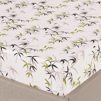 Split King Fern 300 Thread count 100% Cotton Sheet Sets-fitted sheets
