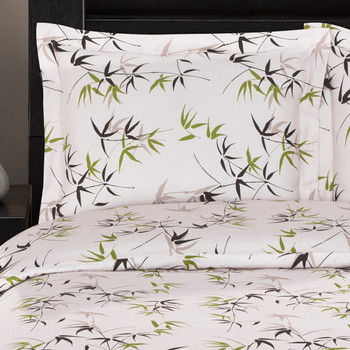 100% Cotton Fern Duvet Cover Sets-closeup